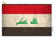 Iraq Flag Vintage Distressed Finish Carry-all Pouch
