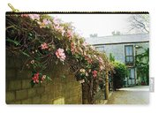 Ireland Floral Vine-topped Brick Wall Carry-all Pouch