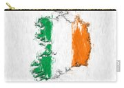 Ireland Painted Flag Map Carry-all Pouch