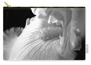 Iris Flower In Black And White Carry-all Pouch