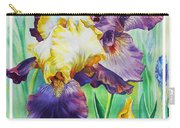 Iris Flower Thank You Carry-all Pouch