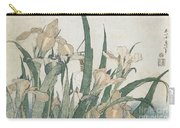 Iris Flowers And Grasshopper Carry-all Pouch