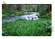 Iris Flowers By The Metolius River Carry-all Pouch