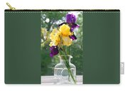 Iris Flowers On Windowsill Carry-all Pouch