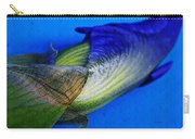 Iris On Blue Carry-all Pouch