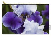 Iris Purple And White Fine Art Floral Photography Print As A Gift Carry-all Pouch