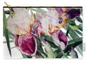 Watercolor Of Tall Bearded Irises I Call Iris Vivaldi Spring Carry-all Pouch