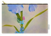 Iris With Forget Me Nots Carry-all Pouch