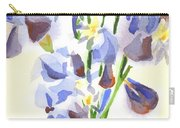 Irises Aglow Carry-all Pouch by Kip DeVore