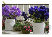Irises And Impatiens Carry-all Pouch