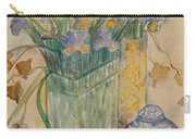 Irises With Chinese Pot Carry-all Pouch
