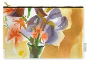 Irises With Stars Of Bethlehem Carry-all Pouch by Kip DeVore