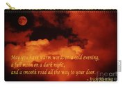 Irish Blessing On Orange Clouds And Full Moon Carry-all Pouch