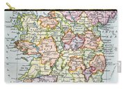 Irish Free State And Northern Ireland From Bacon S Excelsior Atlas Of The World Carry-all Pouch