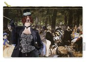 Irish Red And White Setter Art Canvas Print Carry-all Pouch