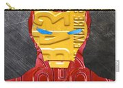 Iron Man Superhero Vintage Recycled License Plate Art Portrait Carry-all Pouch