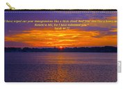 Isaiah 44 22_ 2015 03 15 01 B 3143 Carry-all Pouch