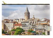 Istanbul Cityscape And Galata Tower Carry-all Pouch
