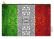 Italian Flag - Italy Stone Rock'd Art By Sharon Cummings Italia Carry-all Pouch