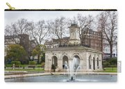 Italian Fountain In London Hyde Park Carry-all Pouch by Semmick Photo