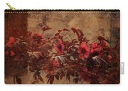 Italian Impasto Style Coral Floral Branch Carry-all Pouch