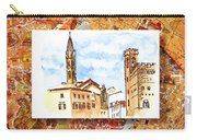 Italy Sketches Florence Towers Carry-all Pouch
