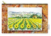 Italy Sketches Sunflowers Of Tuscany Carry-all Pouch