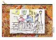 Italy Sketches Venice Two Gondoliers Carry-all Pouch