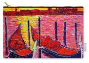 Italy - Venice Gondolas - Abstract Fiery Sunrise  Carry-all Pouch