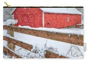 It's Snowing Square Carry-all Pouch by Bill Wakeley