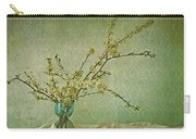 Ivory And Turquoise Carry-all Pouch by Priska Wettstein