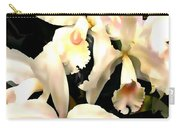 Ivory Cattleya Orchids Carry-all Pouch