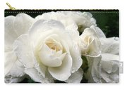 Ivory Rose Bouquet Carry-all Pouch by Jennie Marie Schell