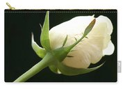Ivory Rose Bud Carry-all Pouch