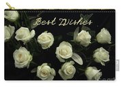 Ivory Roses Greeting  Carry-all Pouch