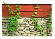 Ivy On Stone And Wood Carry-all Pouch