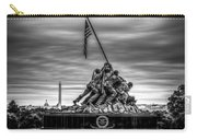 Iwo Jima Monument Black And White Carry-all Pouch