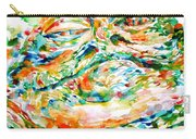 Jabba The Hutt Watercolor Portrait Carry-all Pouch