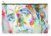 Jack Kerouac Portrait.1 Carry-all Pouch by Fabrizio Cassetta