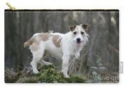 Jack Russell Dog In Autumn Setting Carry-all Pouch