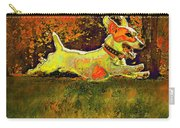 Jack Russell In Autumn Carry-all Pouch by Jane Schnetlage