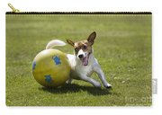 Jack Russell Terrier Plays With Ball Carry-all Pouch by Johan De Meester