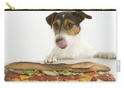 Jack Russell With Sandwich Carry-all Pouch