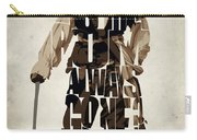 Jack Sparrow Inspired Pirates Of The Caribbean Typographic Poster Carry-all Pouch by Ayse Deniz