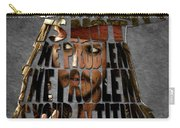 Jack Sparrow Quote Portrait Typography Artwork Carry-all Pouch