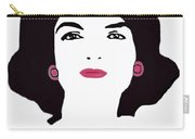Jackie Kennedy Signature Pink Lips Carry-all Pouch by Jost Houk