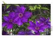 Jackmanii Purple Clematis Vine Carry-all Pouch