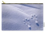 Jackrabbit Tracks In Snow Carry-all Pouch