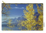 1m9206-jackson Lake And Aspens, Wy Carry-all Pouch