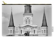 Jackson Square In Black And White Carry-all Pouch